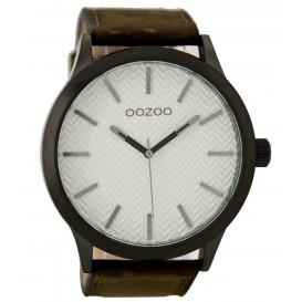 OOZOO Horloge Timepieces brown-white 50 mm C9011