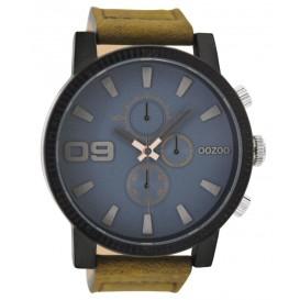 OOZOO Horloge Timepieces brown-bluegrey 50 mm C9030