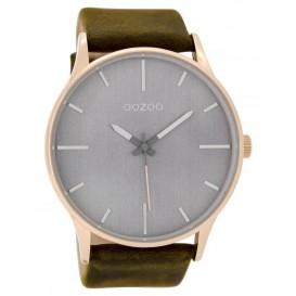 OOZOO Horloge Timepieces darkbrown 48 mm C9053