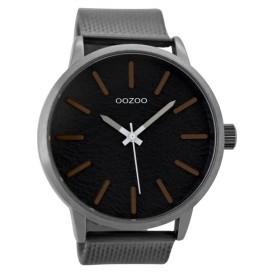 OOZOO Horloge Timepieces staal donkergrijs 48 mm C9233
