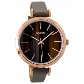 OOZOO Horloge Timepieces Collection bruin 40 mm C9237