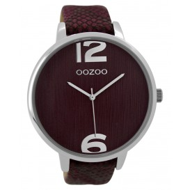 OOZOO Horloge Timepieces Collection Donkerrood 48 mm C9241