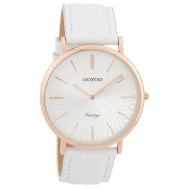 OOZOO Horloge Vintage rosékleurig-wit 40 mm C9331