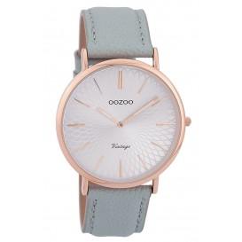 OOZOO Horloge Vintage rosékleurig-lichtblauw 40 mm C9337