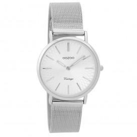OOZOO Horloge Vintage zilverkleurig mesh 32 mm C9342