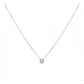 TFT Collier Witgoud Diamant 0.03ct H SI 41 - 43 - 45 cm