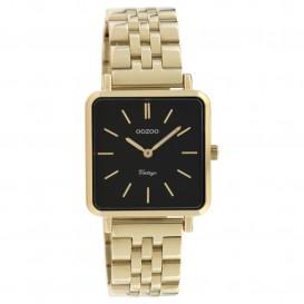 OOZOO C9957 Horloge Vintage staal goudkleurig-zwart 29 x 29 mm