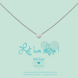 Heart to get N194HEZ13S Ketting zilver Let love shine !