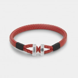 Rebel and Rose RR-L0107-S Armband Connected Red Black - M   M 19,5 cm 1