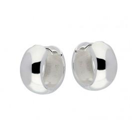Zilveren 107.0105.16 Oorringen zilver ronde buis 8 x 16 mm