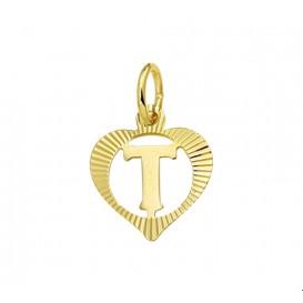 TFT Hanger Geelgoud Hart Letter T