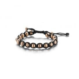 Frank 1967 Armband Rope Staal zwart-rosékleurig 7FB-0095
