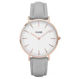 Cluse horloge La Bohéme rosegold-white-grey 38 mm CL18015