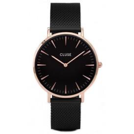Cluse horloge La Bohéme Mesh rosegold-black-black 38 mm CL18034