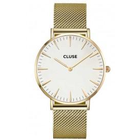 Cluse horloge La Bohéme Mesh gold-white 38 mm CL18109