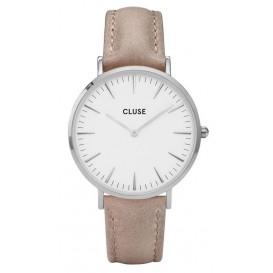Cluse horloge La Bohéme silver-white-hazelnut 38 mm CL18234
