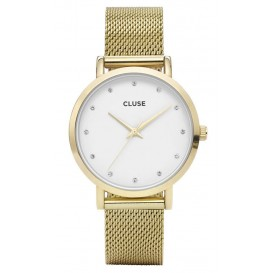 Cluse horloge Pavane Gold Stones Mesh CL18302