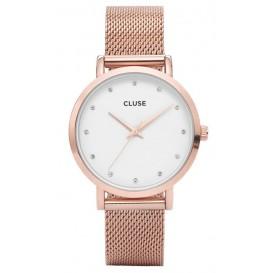 Cluse horloge Pavane Rose Stones Mesh CL18303