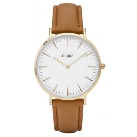 Cluse horloge La Bohéme gold-white-caramel 38 mm CL18409