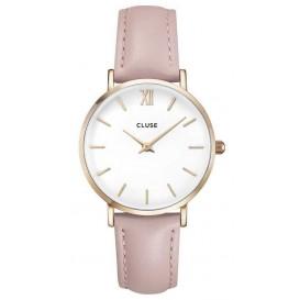 Cluse horloge Minuit rosegold-white-pink 33 mm CL30001