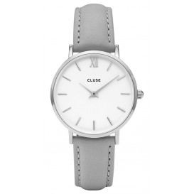 Cluse horloge Minuit silver-white-grey 33 mm CL30006