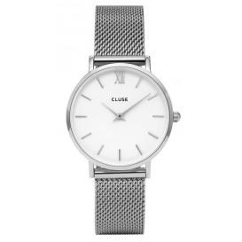 Cluse horloge Minuit Mesh silver-white 33 mm CL30009