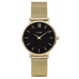 Cluse CL30012 Horloge Minuit Mesh goudkleurig 33 mm