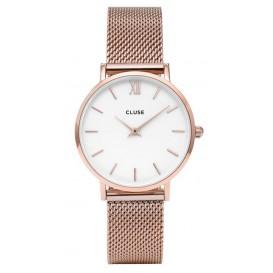 Cluse horloge CL30013 Minuit Mesh rosegold-white 33 mm