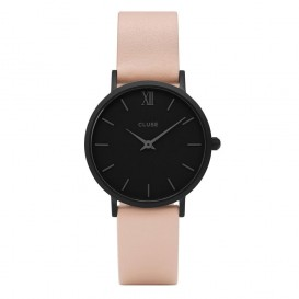 Cluse horloge Minuit full black-nude 33 mm CL30027