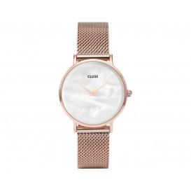 Cluse horloge Minuit La Perle rosegold-white CL30047