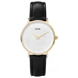 Cluse horloge Minuit La Perle 'Gold'-White CL30048