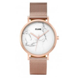 Cluse horloge La Roche Mesh rosegold-white marble 38 mm CL40007