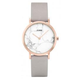 Cluse horloge La Roche Petite rosegold-white marble-grey 33 mm CL40103