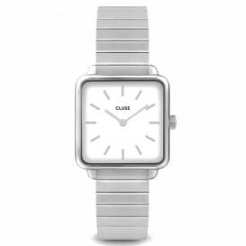 CLUSE CL60022S Horloge La Tetragone staal zilverkleurig