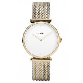 CLUSE CL61002 Horloge Triomphe Mesh goud- en zilverkleurig