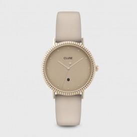 CLUSE CL63005 Horloge Le Couronnement goudkleurig-beige 34 mm