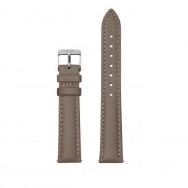 CLUSE CS1408101082 Horlogeband leder taupe-zilverkleurig 16 mm