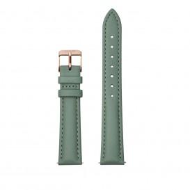 CLUSE CS1408101084 Horlogeband leder groen-rosekleurig 16 mm