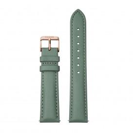 CLUSE CS1408101087 Horlogeband leder groen-rosekleurig 18 mm