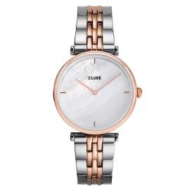 CLUSE CW0101208015 Horloge Triomphe Pearl zilver- en rosekleurig-wit 33 mm
