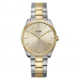 CLUSE CW0101212004 Horloge Feroce zilver- en goudkleurig 36 mm