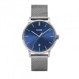 Cluse CW0101501004 Herenhorloge Mesh Aravis zilverkleurig-blauw 40 mm