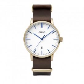 Cluse CW0101501007 Herenhorloge Aravis goudkleurig-wit-bruin 40 mm