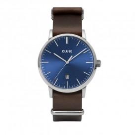Cluse CW0101501008 Herenhorloge Aravis blauw/bruin 40 mm