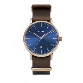 Cluse CW0101501009 Herenhorloge Aravis rosekleurig-blauw-bruin 40 mm
