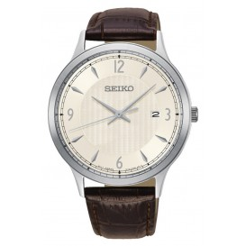 Seiko  herenhorloge Quartz Analoog 40,4 mm SGEH83P1