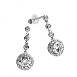 Diamonfire 808.0159.00 Oorhangers Bridal zilver