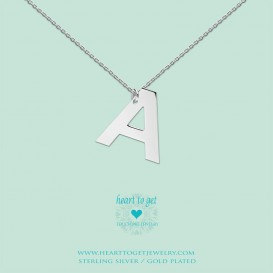 Heart to get LB142INA16S Big Initial letter A including necklace (40 + 8cm) silver