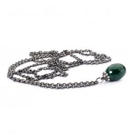Trollbeads TAGFA-00034-TAGFA-00040 Sterling zilveren collier met Malachiet