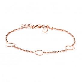 Zinzi ZIA1188R Zilveren armband roséverguld met harten